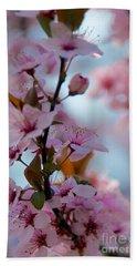 Plum Tree Flowers Bath Towel