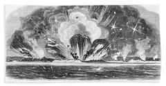 Siege Of Charleston, 1863 Hand Towel
