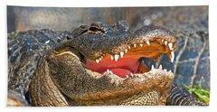 American Alligator Hand Towel by Millard H. Sharp