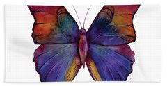 13 Narcissus Butterfly Hand Towel