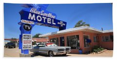Route 66 - Blue Swallow Motel Hand Towel