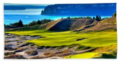 #14 At Chambers Bay Golf Course - Location Of The 2015 U.s. Open Tournament Bath Towel by David Patterson