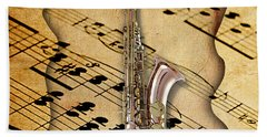 Saxophone Collection Hand Towel