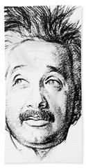 Albert Einstein (1879-1955) Bath Towel