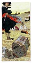 1690s Illustration Pirates On Beach Hand Towel