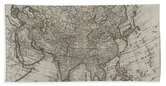 1745 Asia Map Hand Towel