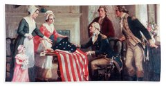 1770s Painting Of Betsy Ross & Bath Towel