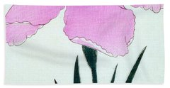 Japanese Flower Hand Towel by Japanese School