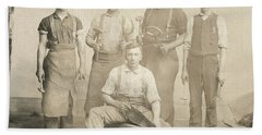 1800's Vintage Photo Of Blacksmiths Hand Towel by Charles Beeler