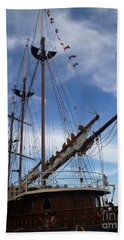 1812 Tall Ships Peacemaker Hand Towel by Lingfai Leung
