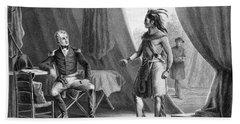 1814 General Andrew Jackson & Red Eagle Bath Towel