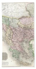 1814 Thomson Map Of Greece Turkey  And The Balkans  Hand Towel