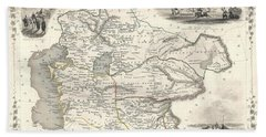 1851 Asia Map Hand Towel