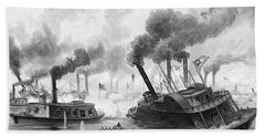 1860s June 1863 Battle Of The Rams Bath Towel