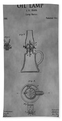 1861 Oil Lamp Patent Hand Towel
