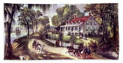 1870s 1800s A Home On The Mississippi - Hand Towel