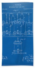 Bath Towel featuring the digital art 1873 Brewing Beer And Ale Patent Artwork - Blueprint by Nikki Marie Smith
