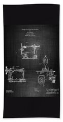 1885 Singer Sewing Machine Bath Towel