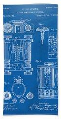 1889 First Computer Patent Blueprint Bath Towel
