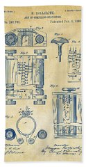 1889 First Computer Patent Vintage Hand Towel