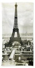 Hand Towel featuring the photograph 1889 Parisian Panorama by Historic Image