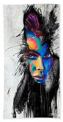 Facial Expressions Bath Towel by Rafael Salazar