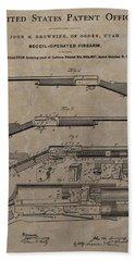 1900 Firearm Patent  Bath Towel