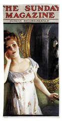 1900s 1904 Woman With Candle Sees Man Hand Towel