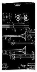 1901 Trombone Patent Hand Towel by Dan Sproul