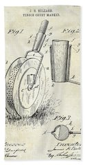 1903 Tennis Court Marker Patent Drawing Hand Towel