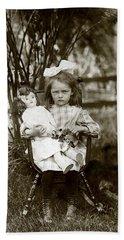 1905 Portrait Of A Cranky Girl Hand Towel