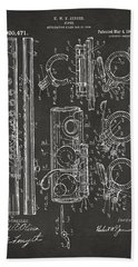 1909 Flute Patent - Gray Hand Towel