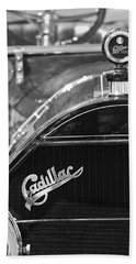 1911 Cadillac Roadster Grille And Hood Ornament Hand Towel