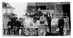 1911 Fire Wagon Hand Towel