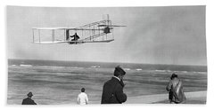 1911 One Of The Wright Brothers Flying Bath Towel