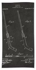 1916 Hockey Goalie Stick Patent Artwork - Gray Bath Towel