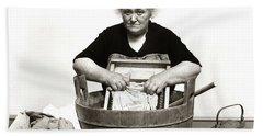 1920s 1930s 1940s Senior Woman Washing Hand Towel