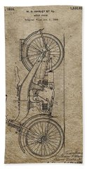 1924 Harley Davidson Patent Bath Towel