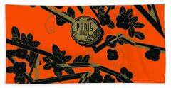 Hand Towel featuring the painting 1925 Art Deco Paris France Perfume  by Historic Image