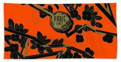 1925 Art Deco Paris France Perfume  Bath Towel by Historic Image