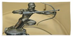 1928 Pierce Arrow Helmeted Archer Hood Ornament Hand Towel