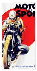 1929 - Bmw Motorcycle Poster - Color Hand Towel
