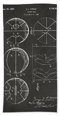 1929 Basketball Patent Artwork - Gray Hand Towel by Nikki Marie Smith