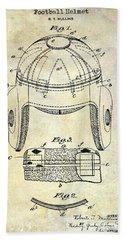 1929 Football Helmet Patent Drawing Hand Towel by Jon Neidert