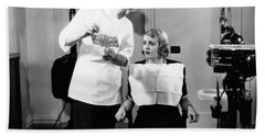 1930s Dentist Man Shows X-rays To Woman Hand Towel