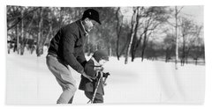 1930s Father & Son Man Wearing Jacket Hand Towel