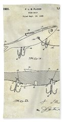1931 Fish Bait Patent Drawing Hand Towel by Jon Neidert