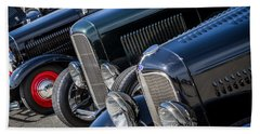 1932 Ford Roadster Coupes With Louvered Hoods Hand Towel