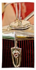 1932 Studebaker Dictator Custom Coupe Hood Ornament - Emblem Bath Towel