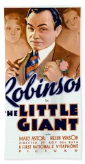 1933 - The Little Giant - Warner Brothers Movie Poster - Edward G Robinson - Color Hand Towel